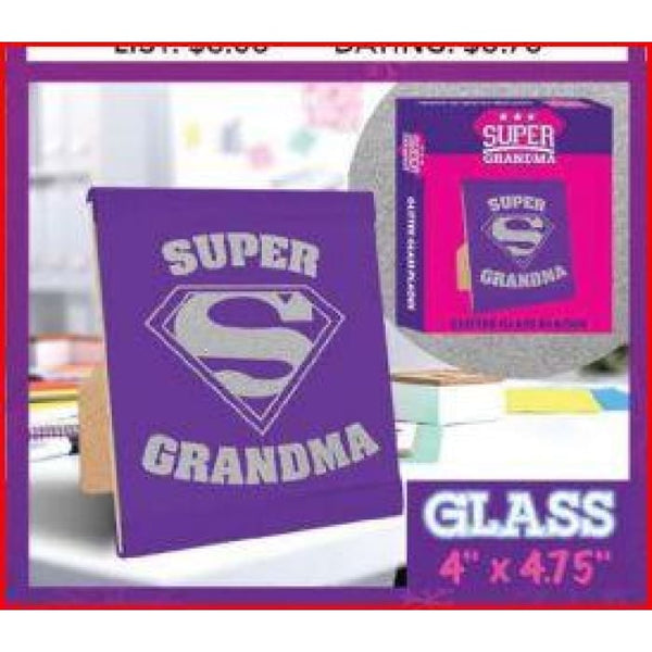 Super Grandma Glass Plaque