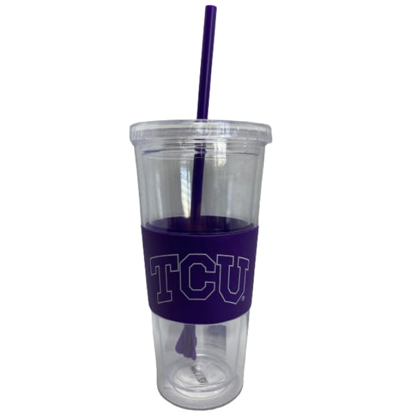 TCU Clear Cup with Straw