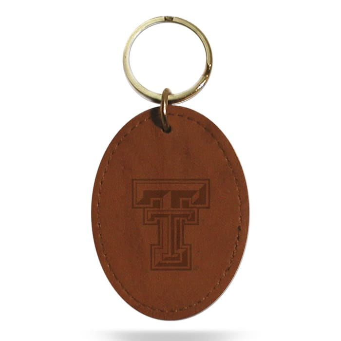 TEXAS TECH LEATHER EMBOSSED KEYFOB