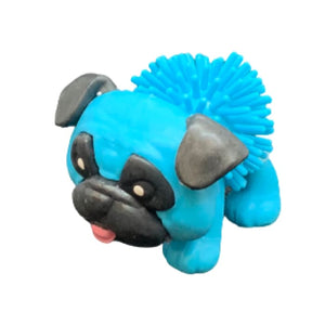 Toy Spiky Pug Dog - Blue