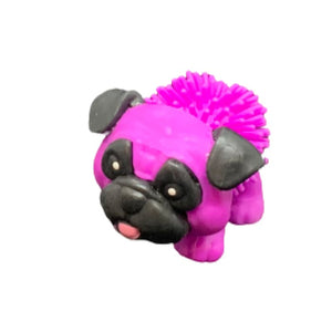 Toy Spiky Pug Dog - Purple