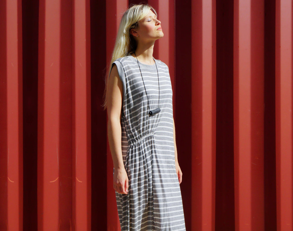 Striped Shirt Dress - KERENVEMICHAL by Michal Nir