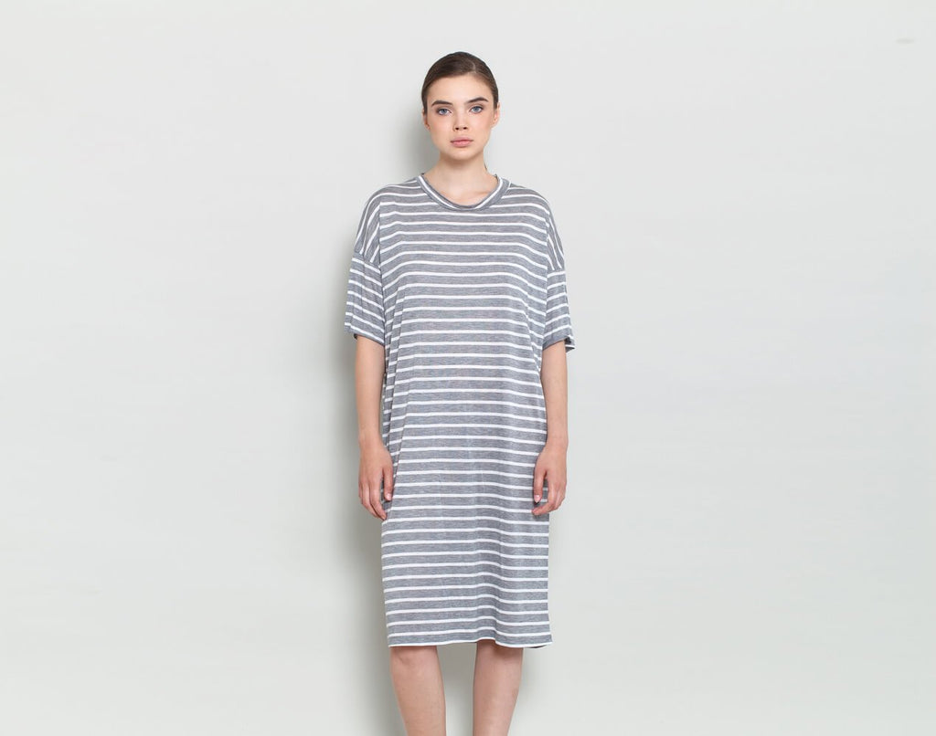 Striped Tunic Dress - KERENVEMICHAL by Michal Nir