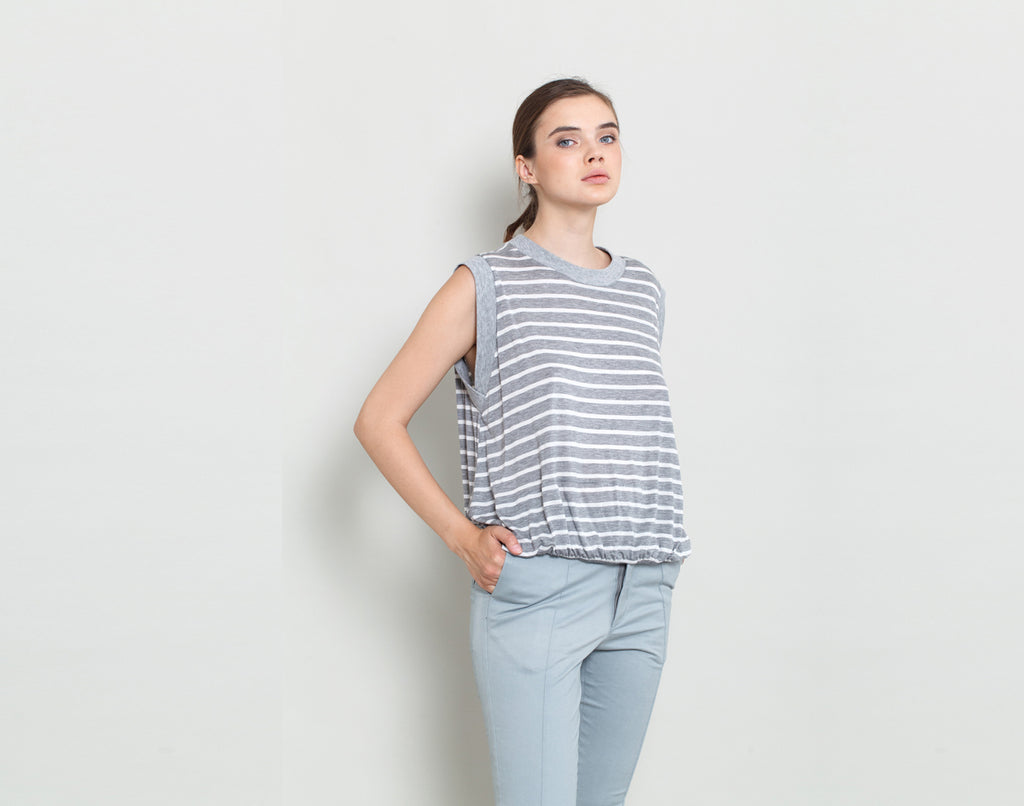 Striped Sleeveless Tank - KERENVEMICHAL by Michal Nir