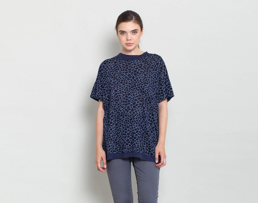 Blue Boxy Top - KERENVEMICHAL by Michal Nir