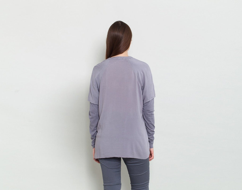Long V Neck Shirt - KERENVEMICHAL by Michal Nir