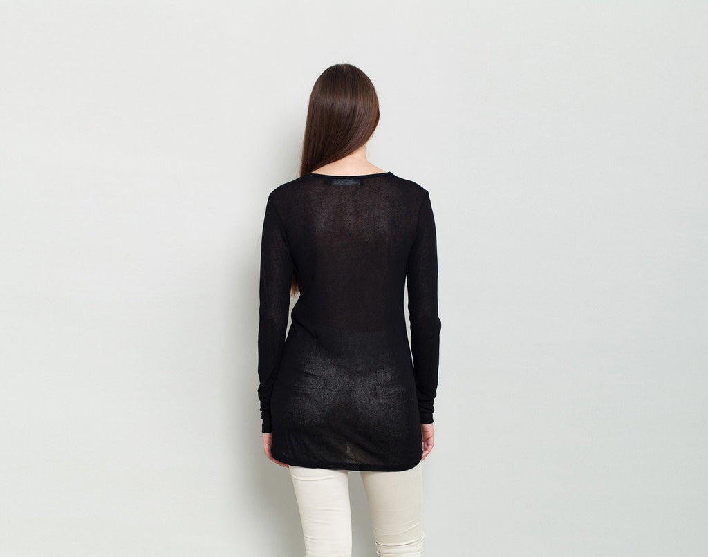 Black Tunic Top - KERENVEMICHAL by Michal Nir