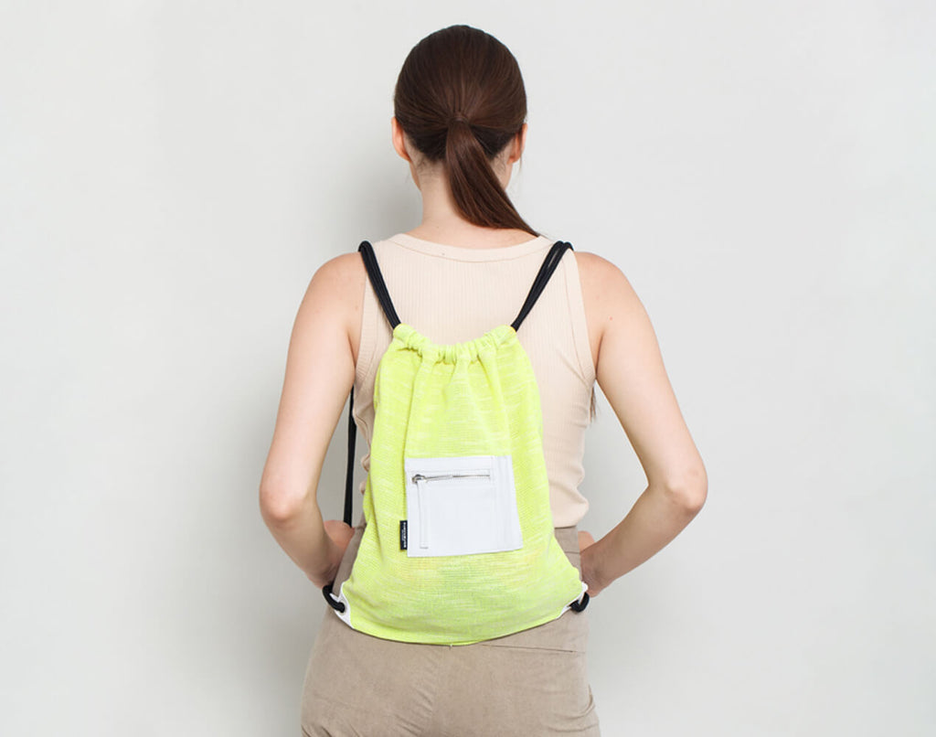 Drawstring Backpack - KERENVEMICHAL by Michal Nir