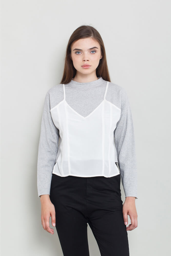 Long Sleeve Crop Top - KERENVEMICHAL by Michal Nir