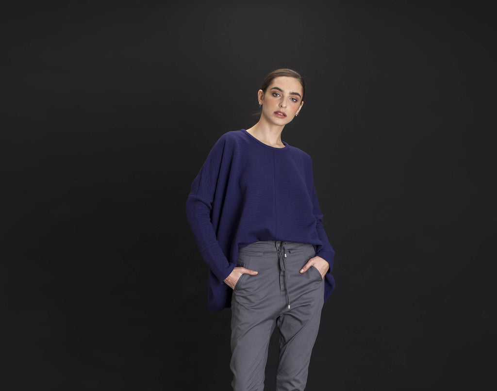 Purple Tunic Sweater - KERENVEMICHAL by Michal Nir
