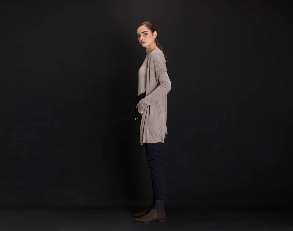 Knitwear Brown Cardigan - KERENVEMICHAL by Michal Nir