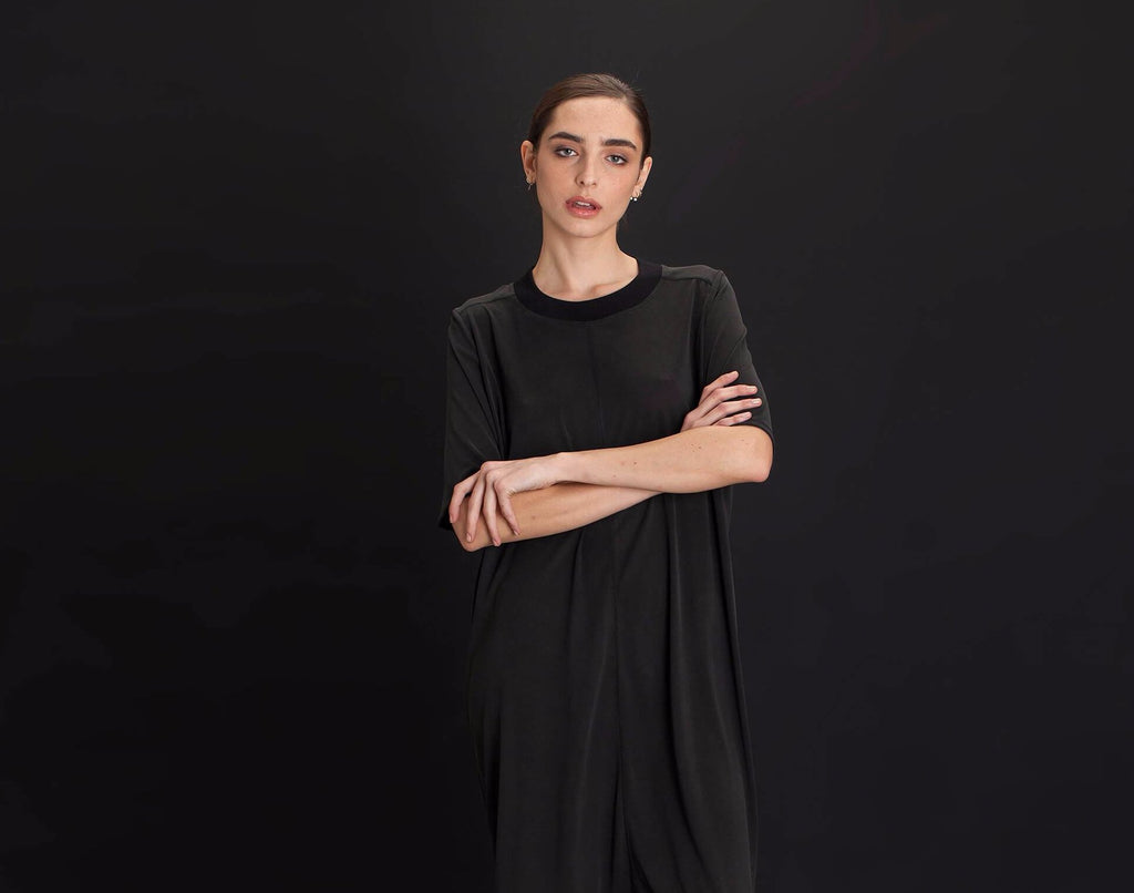 Black Midi Dress - KERENVEMICHAL by Michal Nir