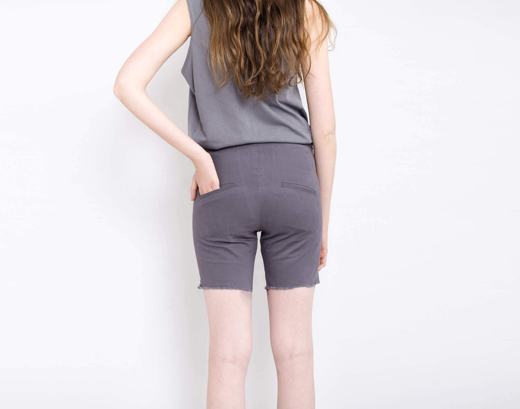 Grey Shorts - KERENVEMICHAL by Michal Nir