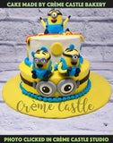 A cake for a minion love. Although in our opinion no one can not love minions. But this is special person has a special corner in her heart for them. This is a cake made of minion army to surprise her!
