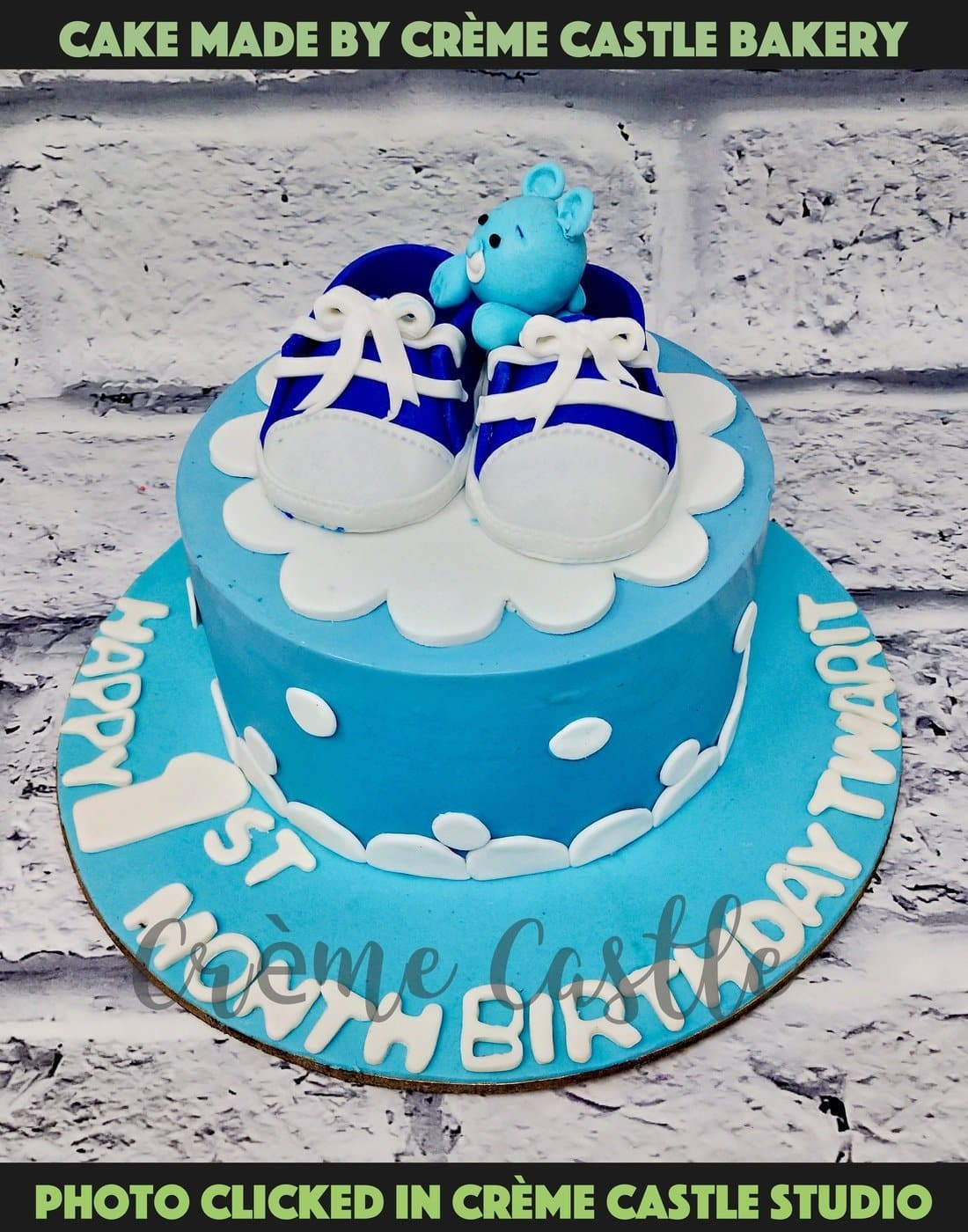 Baby Shoes Theme Cake