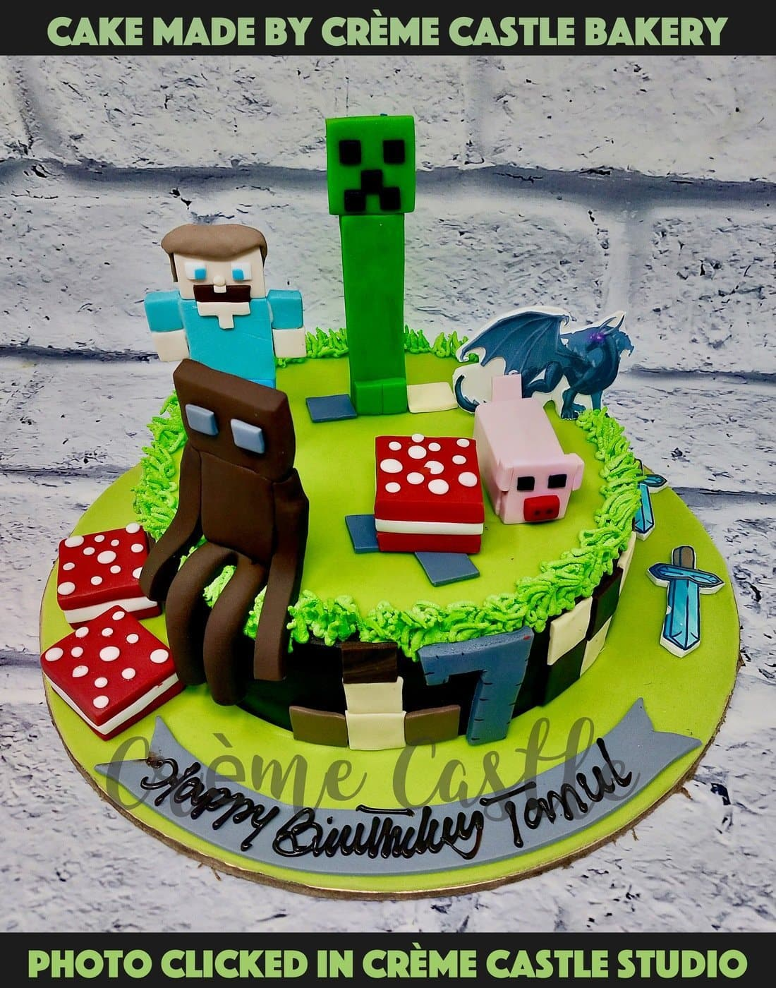 Minecraft Characters Cake