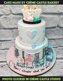 Baby Shower Stroller Tier Cake