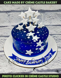 Stars and Night Cake