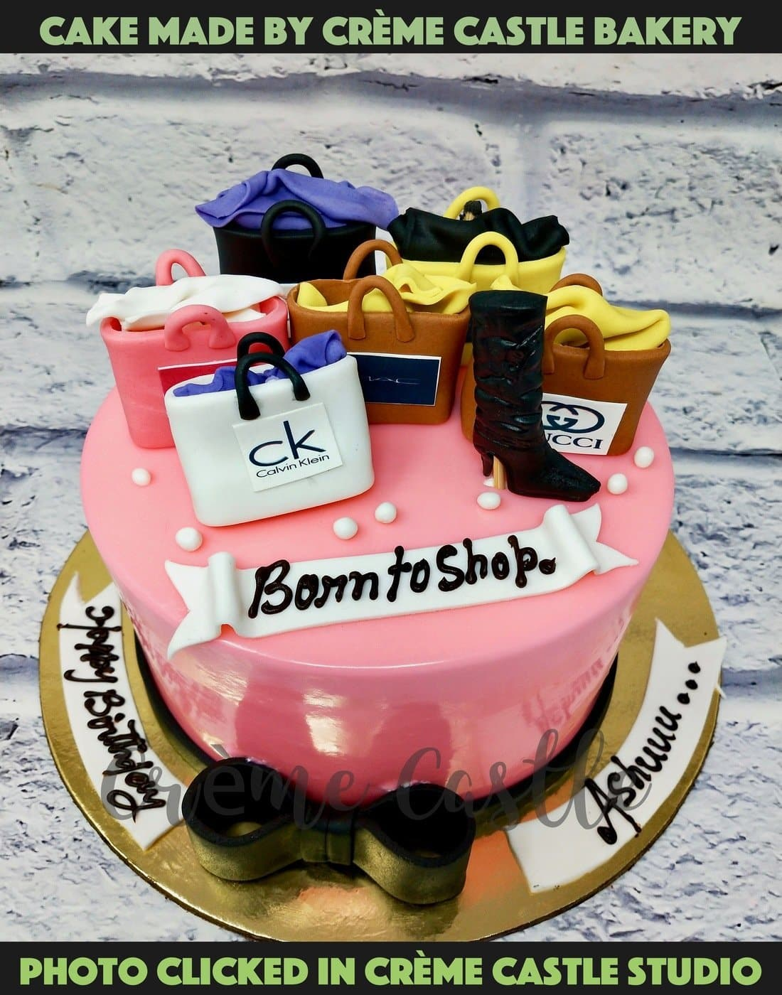 Shopping and Boots Cake