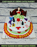 A cake for first night and bachelorette theme where couple is having fun, if you know what we mean!