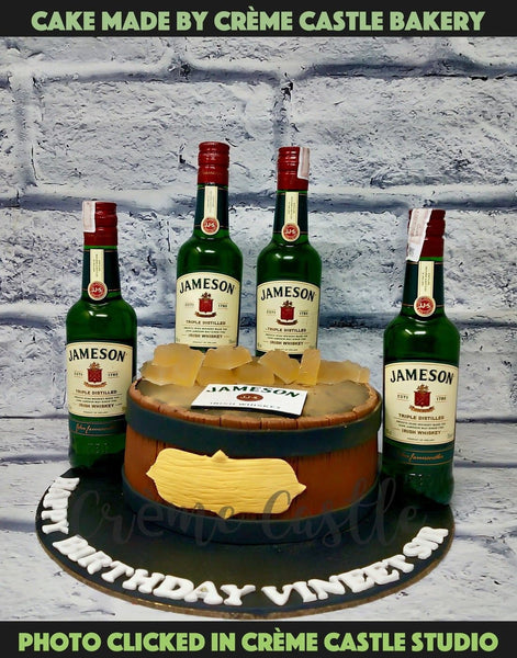 Whiskey Casket Cake