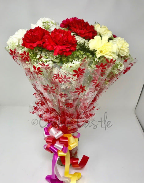Colorful Carnations Bouquet - cremecastle