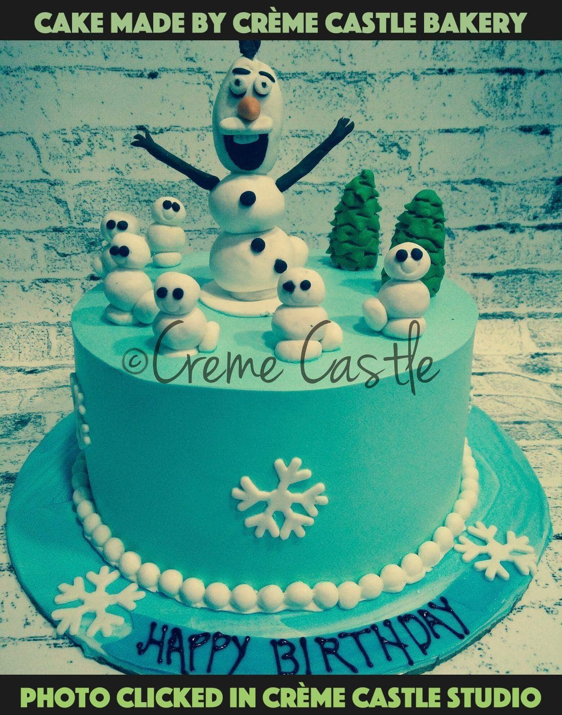 Olaf and snowmen - cremecastle