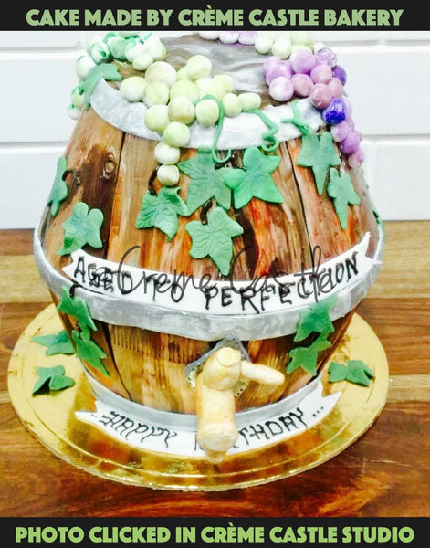 Wine barrel cake