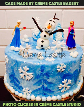 Hand painted frozen themed - cremecastle