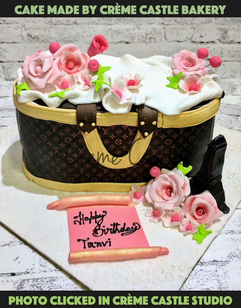 Louis Vuitton bag cake - cremecastle