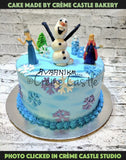 Frozen cake hand painted - cremecastle