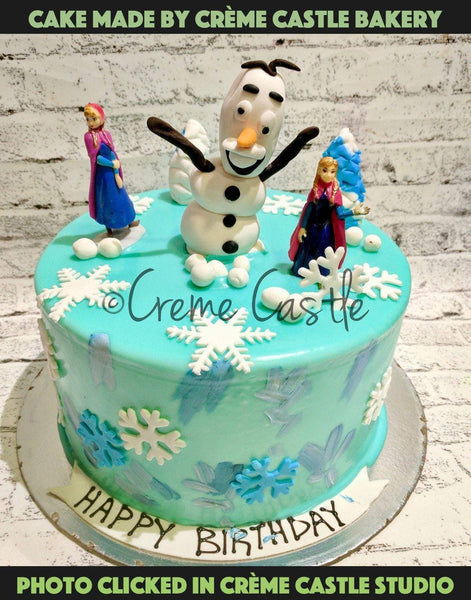 Hand painted frozen themed 2 - cremecastle