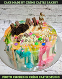 Colorful Drip Cake - cremecastle