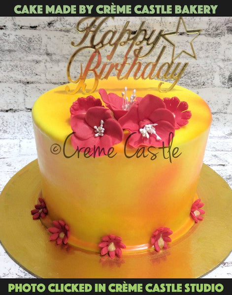 Hand painted color tone cake - cremecastle