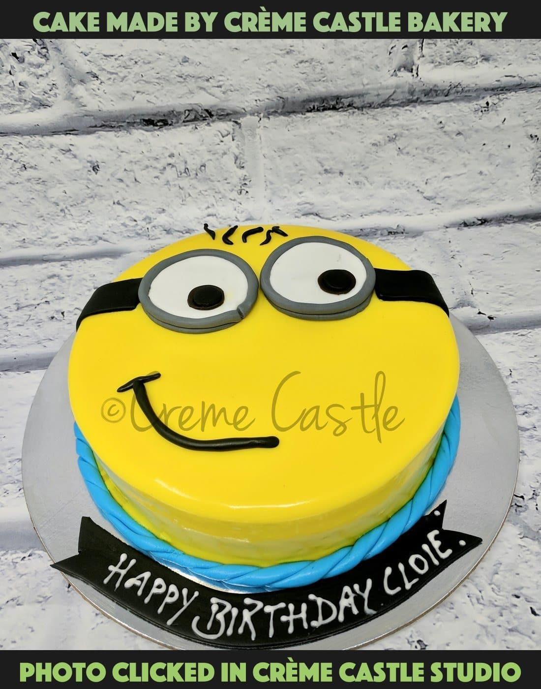Incredible Smirking Minion Cake Birthday Cake For Kids Creme Castle Funny Birthday Cards Online Inifofree Goldxyz