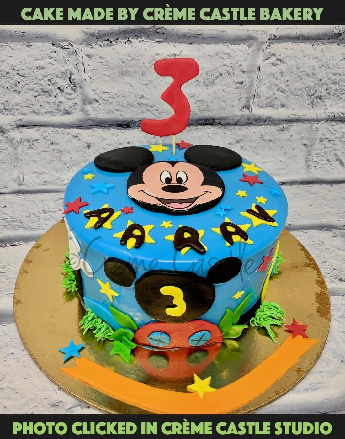 Surprising Mickey Mouse Theme Cake Cartoon Birthday Cake For Kids Creme Funny Birthday Cards Online Inifodamsfinfo