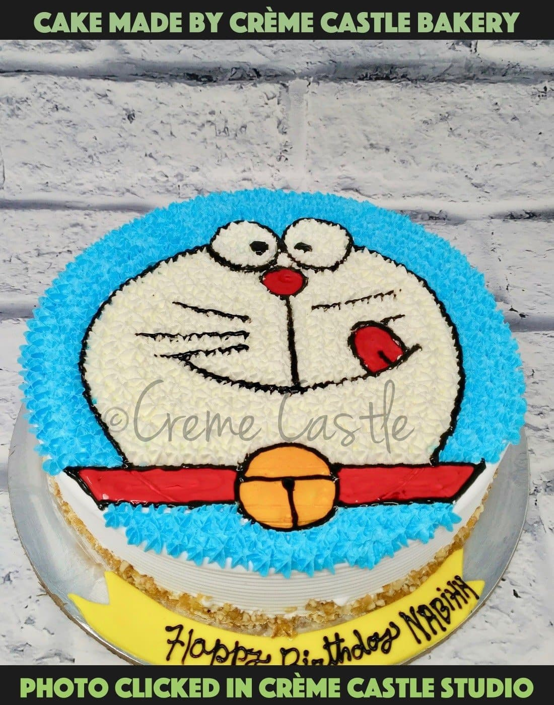Doremon Face Cake - cremecastle