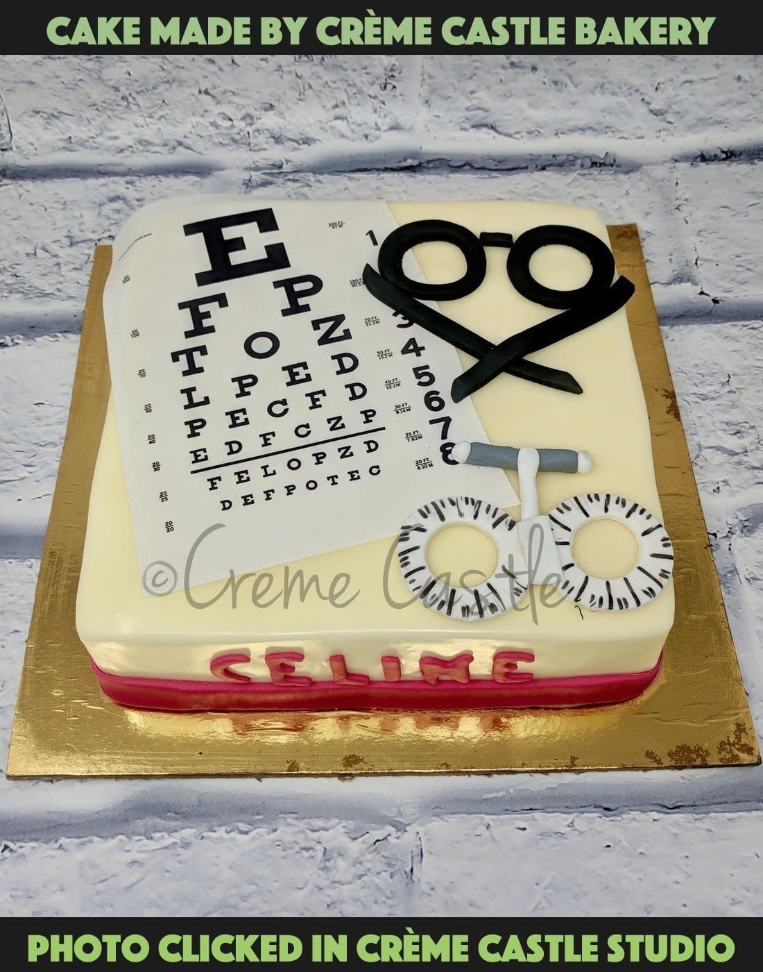 Cake For Optometrist - cremecastle