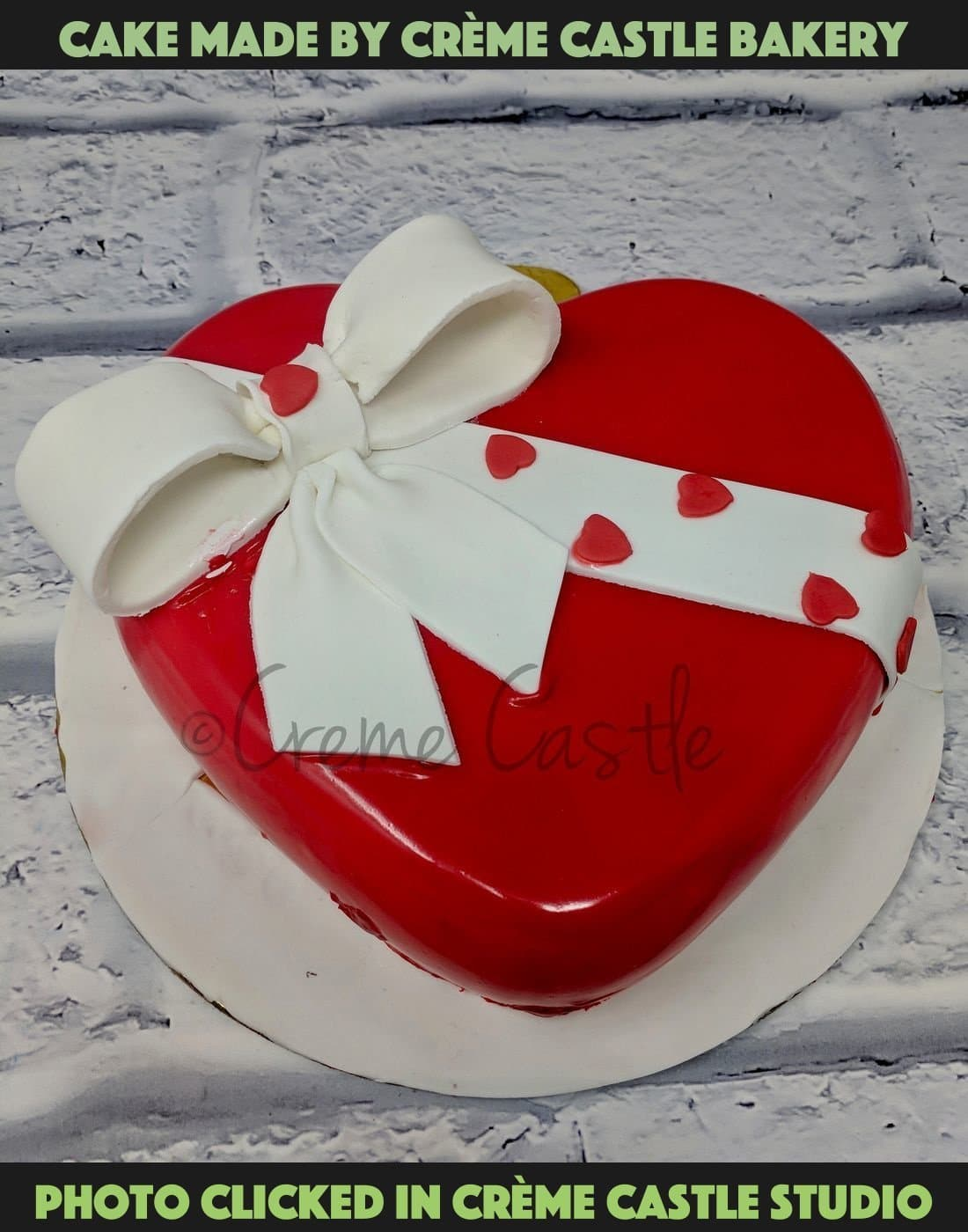 Red Heart and Bow - cremecastle