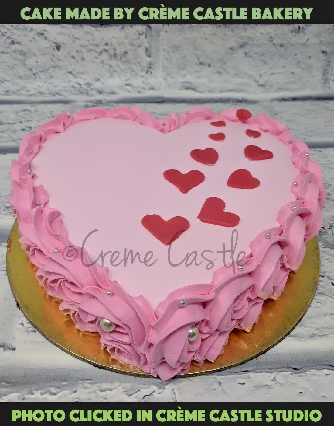 Pink Hearts on Heart - cremecastle