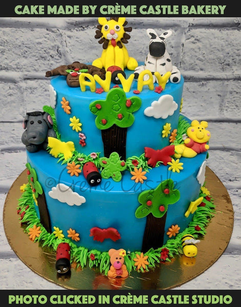 Jungle Theme Cake - cremecastle