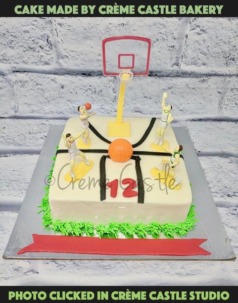 Basketball Theme Cake - cremecastle