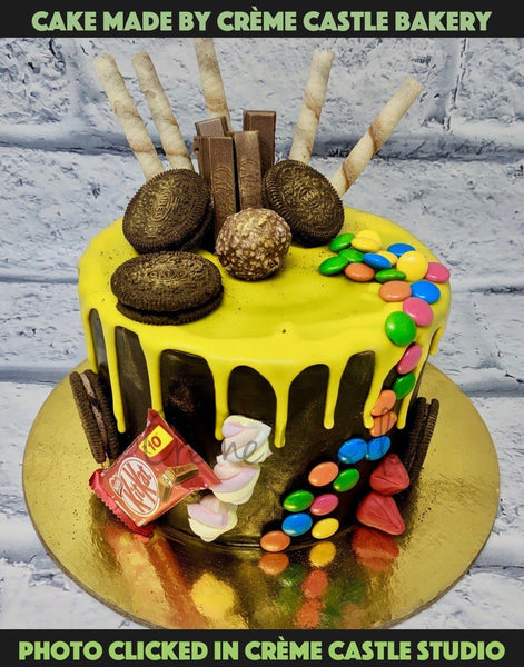 Chocolate Drip Cake - cremecastle