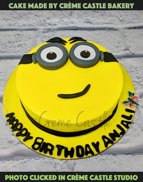 Minion Theme Cake - cremecastle