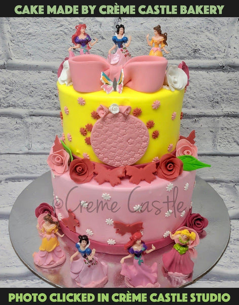 Disney Princess Theme Cake - cremecastle