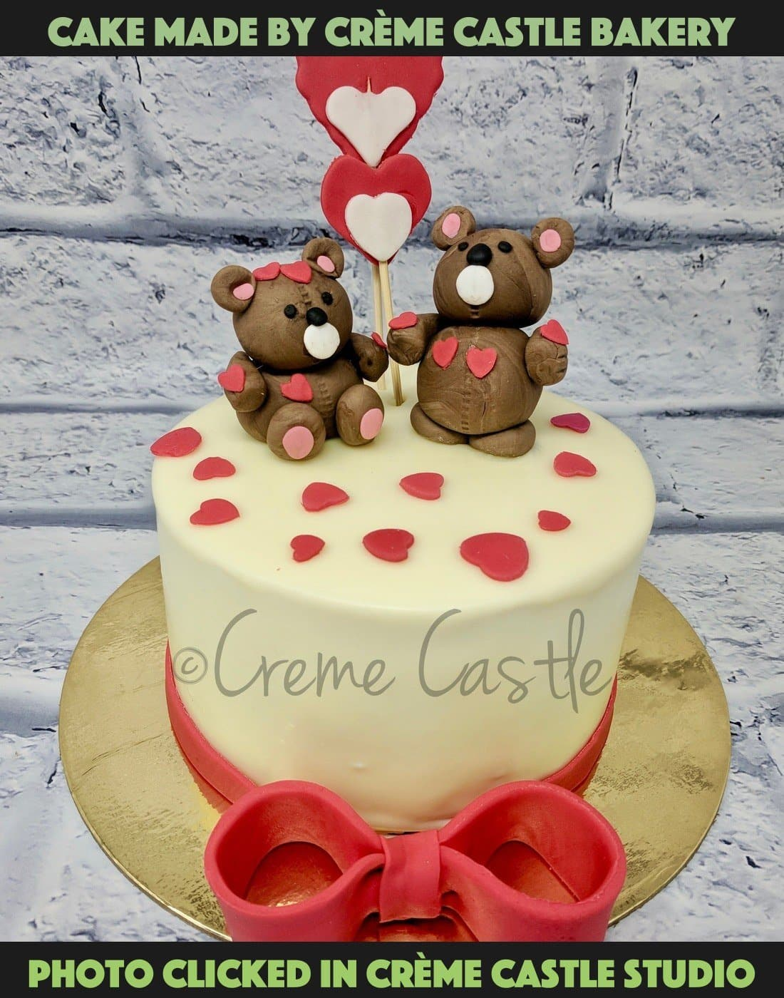 Teddy And Love Cake - cremecastle