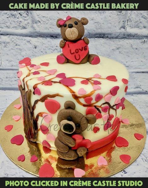 Heart And Bears Cake - cremecastle