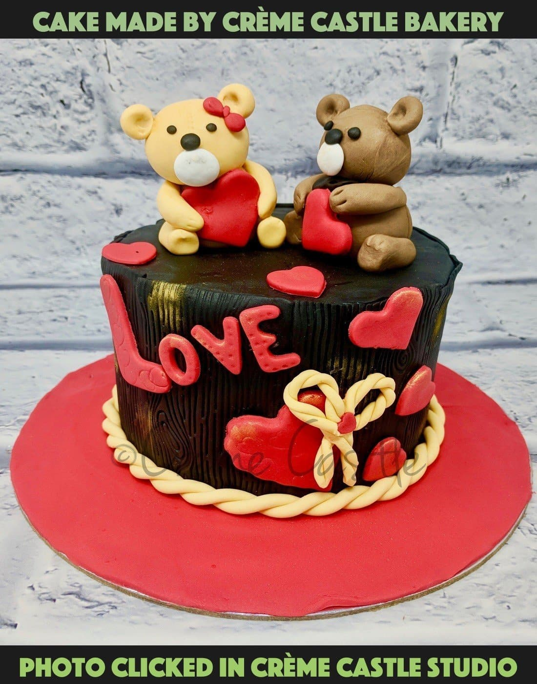Hearts And Cupid Cake - cremecastle