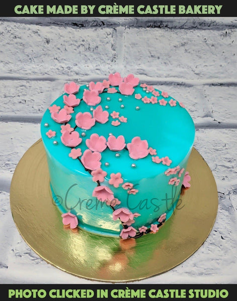 Flower Cake - cremecastle
