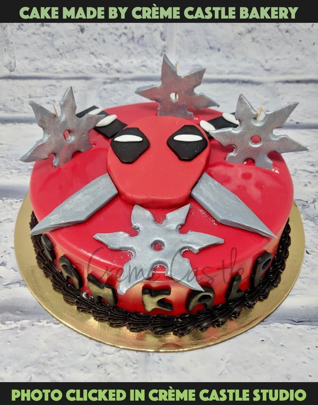 Deadpool themed cake - cremecastle
